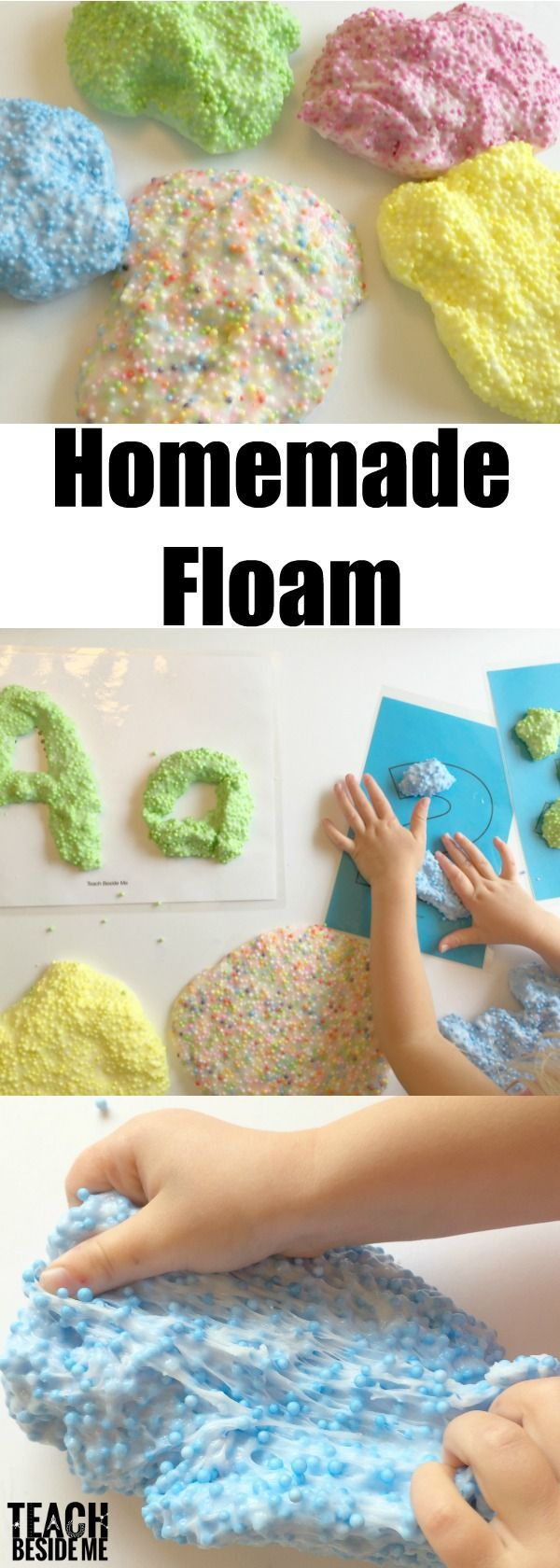 homemade floam learning activities