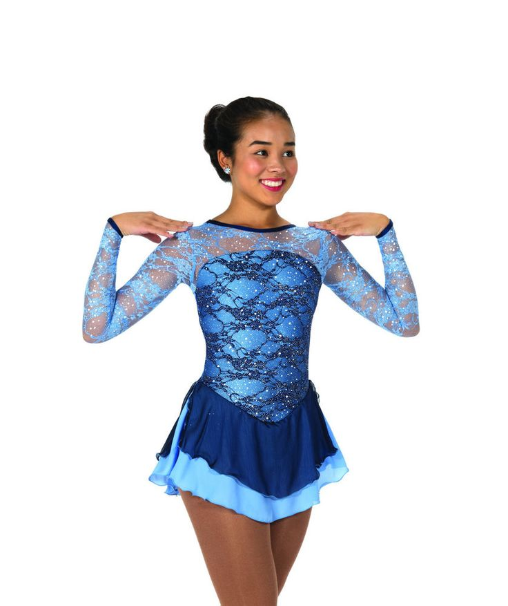 New Jerrys Competition Skating Dress 117 Lake Of Lace Made on Order | eBay