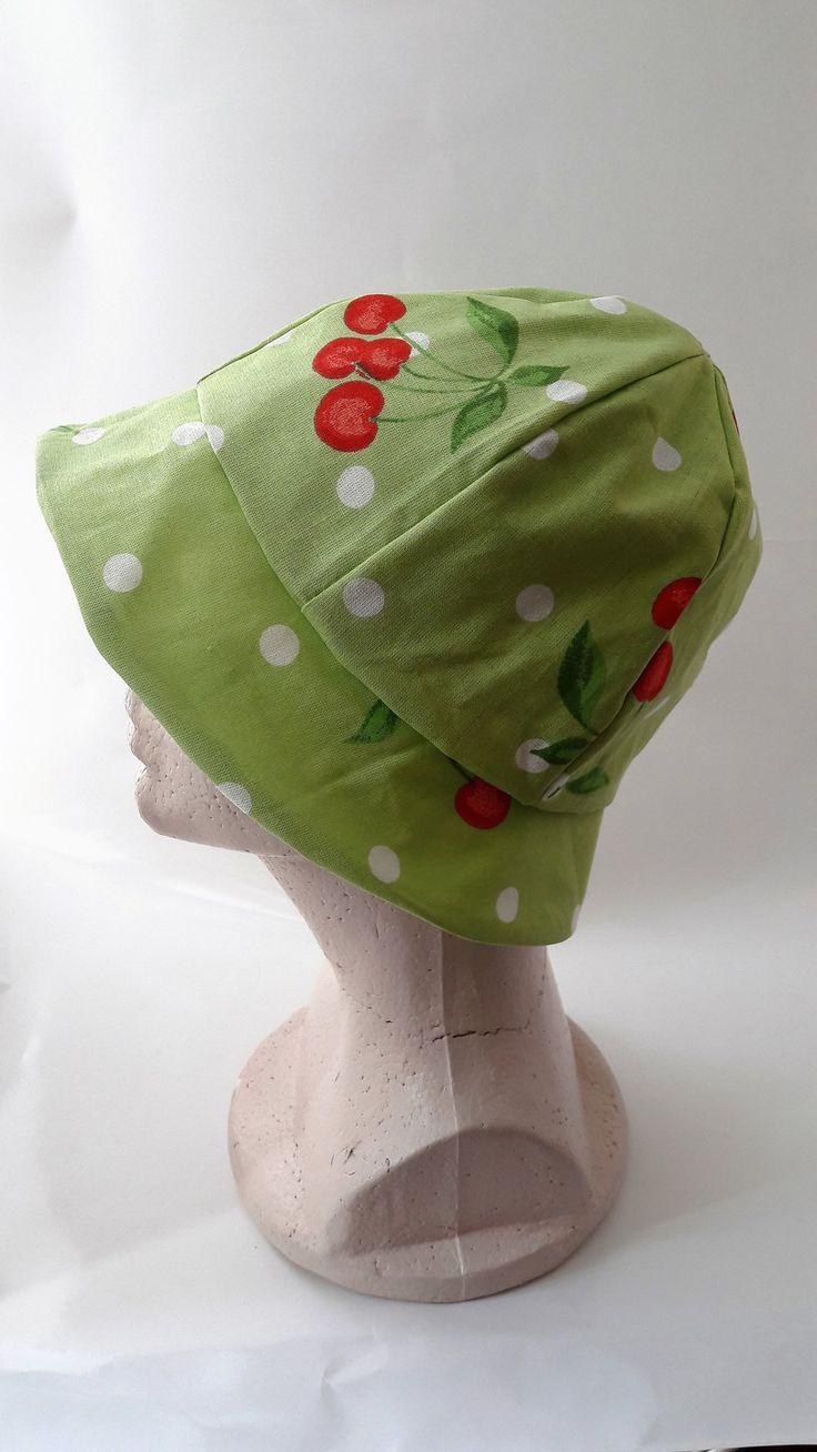 chapeau bob cerise mode filles par petit perroquet