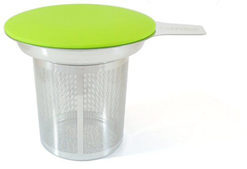 Best Loose Leaf Tea Infuser & Herbal Tea Steeper - Brews Strains & Steeps Single Cup of Extra Fine Tea - Dishwasher Safe Silicone Top and Stainless Steel Tea Tumbler Basket & Infuser
