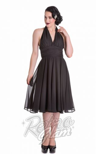 The monroe dress from Hell Bunny named after of course the icon #marilynmonroe.  Perfect holiday dress for the rockabilly gals, pinups and bombshells out there! #pinup #retro #retroglamclothing #retroglam #rowenaedmonton #holidays2015 #50s #dress #vintageinspired #marilynmonroe #hellbunny