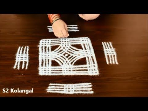 easy rangoli designs || dhanur masam muggulu|| margazhi kolam || padi kolam