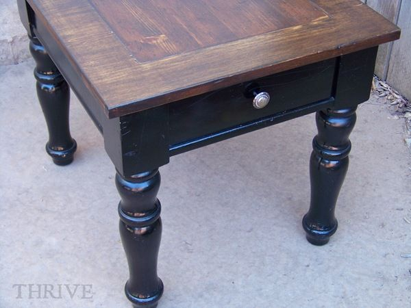 table conversion-  I am so doing this to my living room tables!!!
