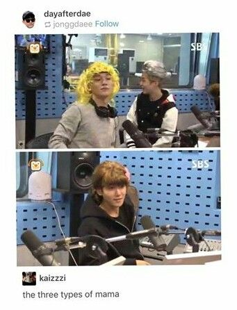 EXO's three types of MAMA