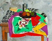 Nature morte med fransk tørklæde Still Life with French Scarf by Olaf Rude