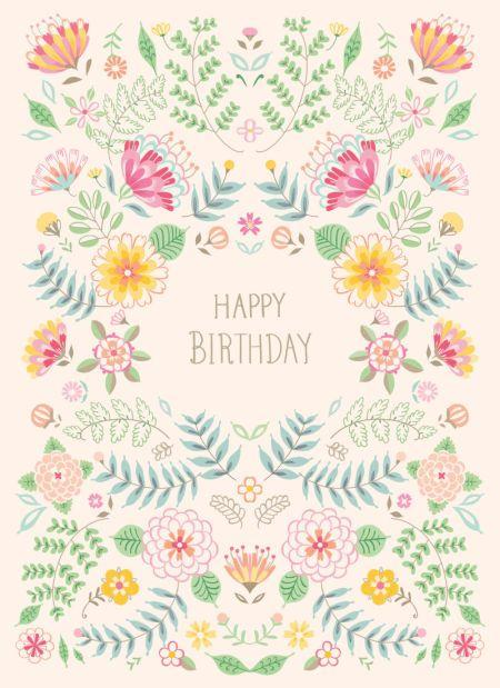 Pimlada Phuapradit - Floral Card_happy Birthday