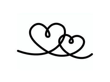 Pečiatka - 2 srdcia