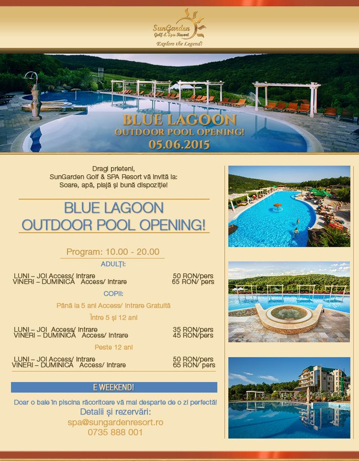 Blue Lagoon Outdoor Pool Opening - Sun Garden Resort
