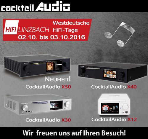 Westdeutsche HiFi-Tage am 2.10. und 3.10. 2016 in Bonn Wir präsentieren am 2.10 und 3.10.2016 unseren neuen CocktailAudio X50 und natürlich auch den X12, X30 und X40. NEU: Wir zeigen den iEast M5, M30 Pro und AM160. diese Geräte sind Streaming Clients mit Multiroom Funktion inkl. HD Sound. -> https://www.ieast.de/  Maritim Hotel Bonn Godesberger Allee Zufahrt: Kurt-Kiesinger-Allee 1 53175 Bonn