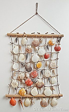 Sea Shells In Netting, Could Be Used For Escort Cards At Destination  Wedding!
