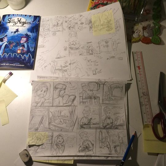 Silly Kingdom #3 progress: 6 pages rough pencilled. 33 more to go. Let's do this! #makingcomics