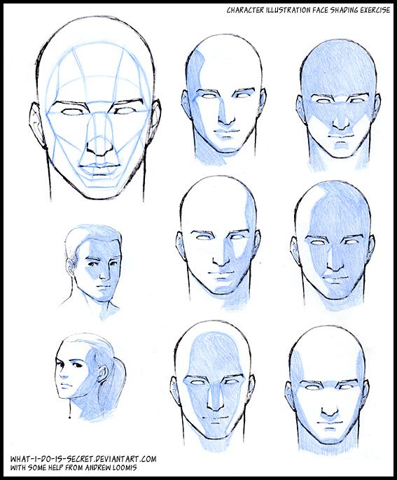 Shading faces