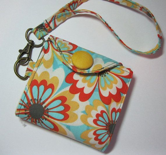 Women's Wristlet Wallet Cabana Blooms by AlwaysALittleBehind, $18.00
