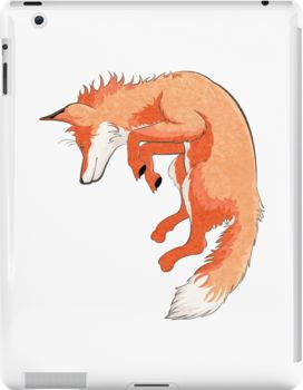 Jumping Fox iPad Casese & Skins by AnMGoug on Redbubble. #iPad #fox #technology