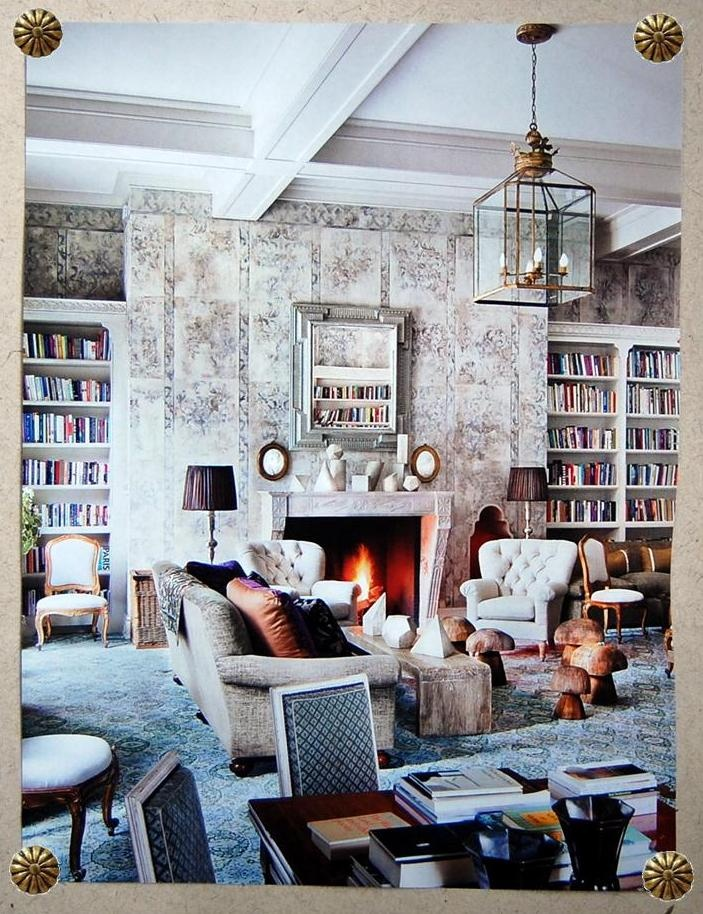 connecticut home interior design stephen sills handpainted burlap walls with a faded ottoman design