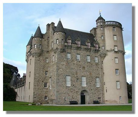Castle Fraser, Aberdeenshire,   Scotland.  Castle Fraser was built between 1575 and 1635 but since then there have been alterations in the early 19th century.