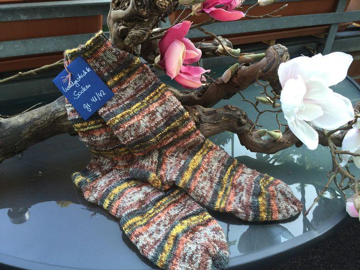 Socken - Handgestrickte Socken in Gr. 41/42 - ein Designerstück von maschenhaft-ideen bei DaWanda