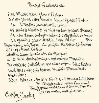 Original Wiener Sachertorte. Rezept