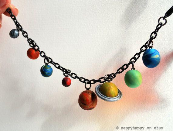 Solar system bracelet: Planets, Solar System, System Necklace, Style, Jewelry, Charms Bracelets, Necklaces, System Bracelets, Geek Chic
