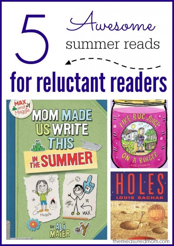 Books for reluctant readers - perfect for summer reading! (plus a giveaway)