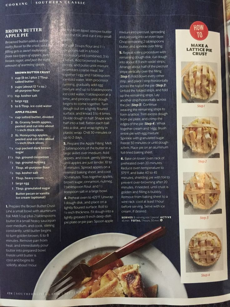 new orleans southern living magazine. brown butter apple pie from southern living magazine new orleans