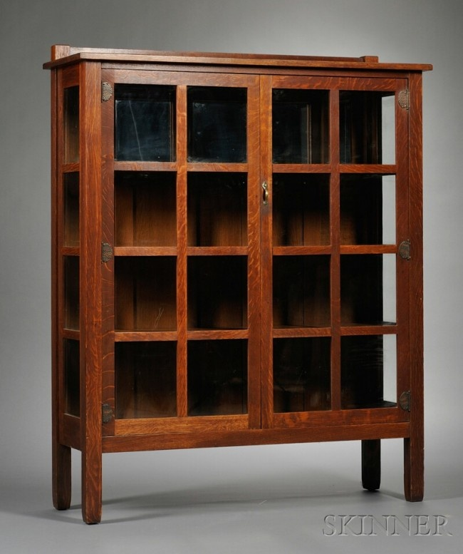 Tall mission style curio cabinet. I've been looking for one just like ...