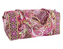 XL Duffle in Very Berry Paisley