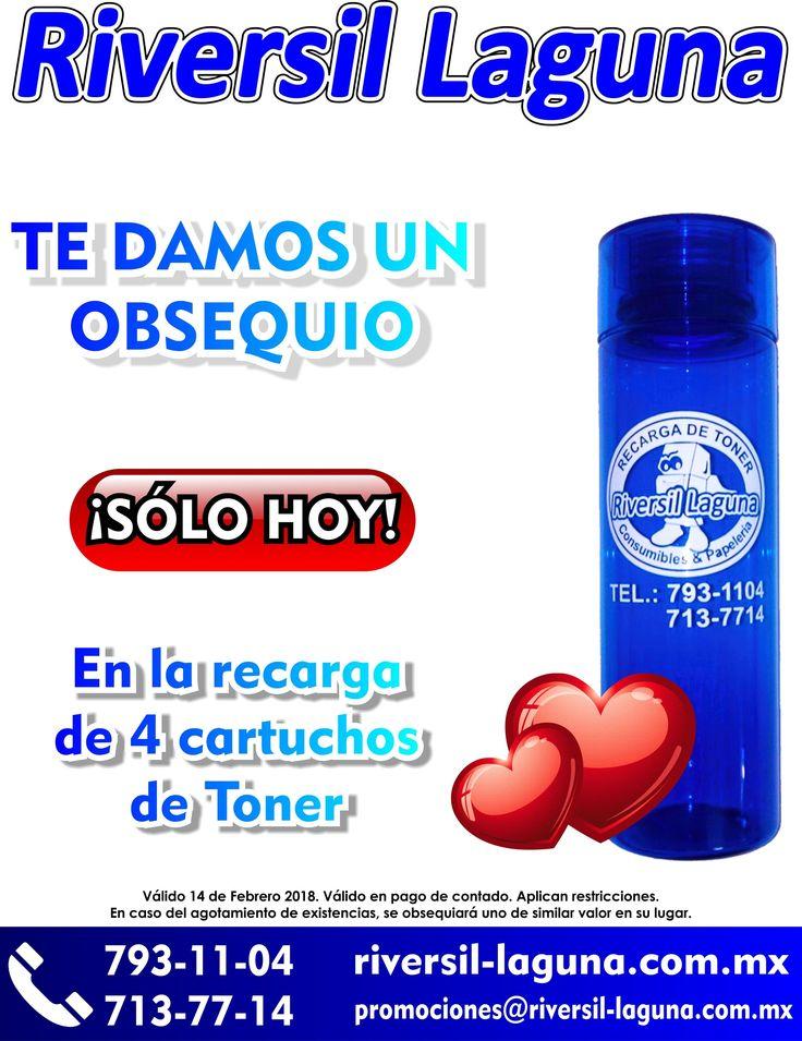 Te damos de #regalo una #botella para el #agua, con tus #recargas de #toner <3  Servicio a #domicilio  Llámanos: 793-11-04 267-37-38 455-28-82 267-68-36 713-65-94 713-77-14 712-36-21