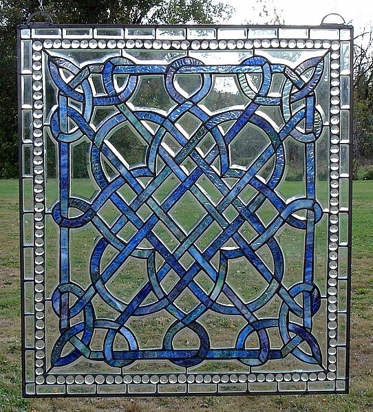 Celtic beautiful stained glass windows Photo | Index of /images/Celtic/Celtic Country Blue GS03