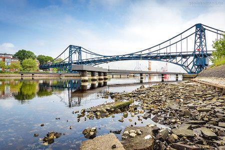 Wilhelmshaven Großer Hafen: Kaiser-Wilhelm-Brücke bei Ebbe