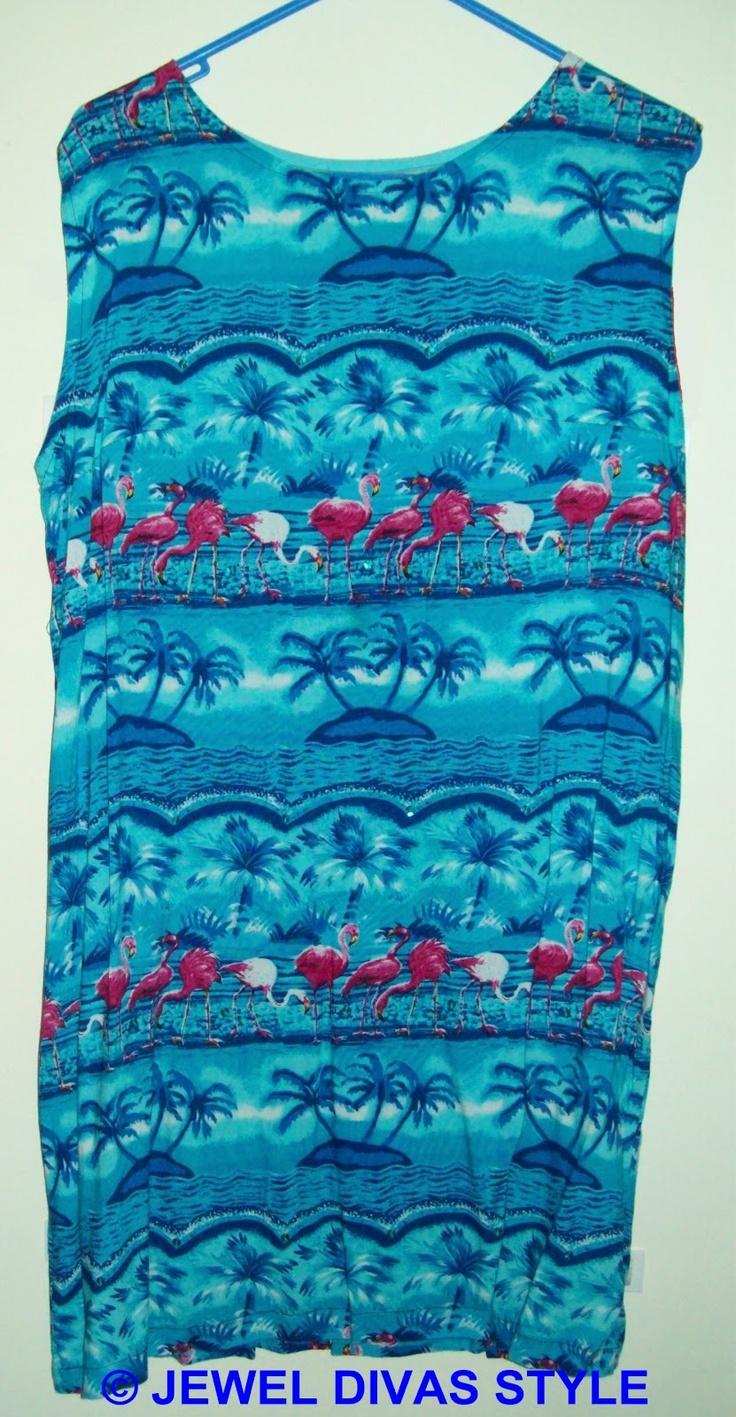 JDS - MADE: Blue tropical dress - http://jeweldivasstyle.com/in-my-life-i-am-a-designer/