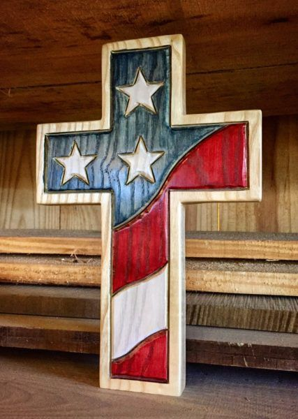 One nation under God 2nd edition Wooden Cross