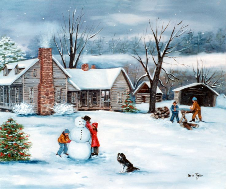 Excited to share the latest addition to my #etsy shop: Folk Art Painting, Country Scene, Uncle Clyde's, Old House, Children Snowman, Black Dog, Snow, Sawing Wood, Vale NC, Catawba County, Winter http://etsy.me/2Ct9RXm #art #print #white #blue #housewarming #nc #hickory