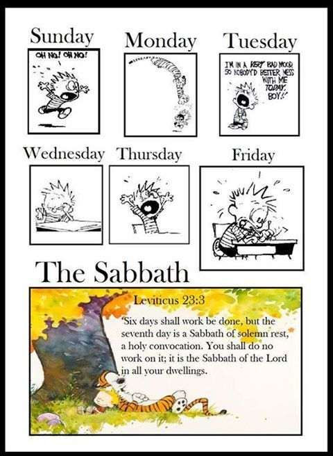 """See! For the Eternal has given you the Sabbath; therefore He gives you on the sixth day bread for two days. Let every man remain in his place; let no man go out of his place on the seventh day."" So the people rested on the seventh day. Exodus 16:29-30"