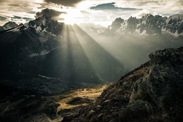 Entre Aiguilles Rouges et Mont Blanc : Chamonix