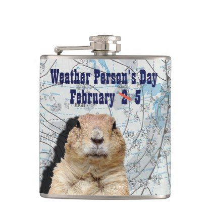 National Weather Persons Day February 5 Hip Flask - holidays diy custom design cyo holiday family