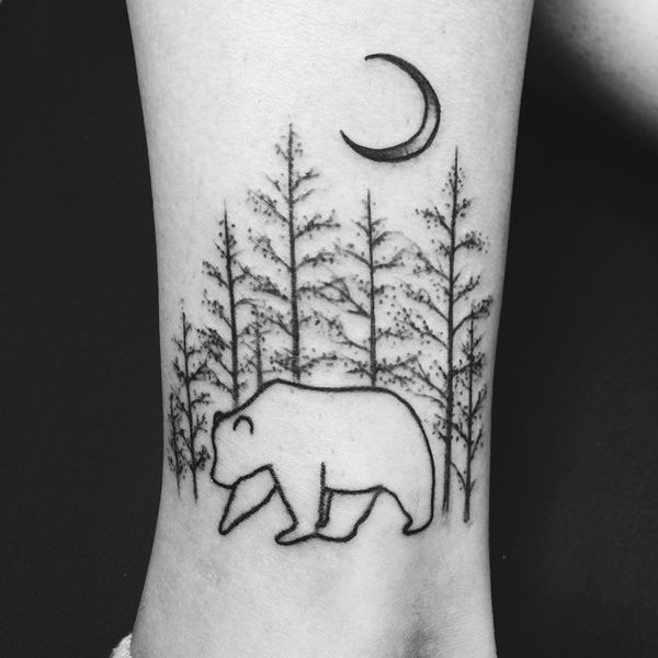 Aspen Tree Root Tattoos | of trees could symbolize the serenity of reflection, as the pine trees ...