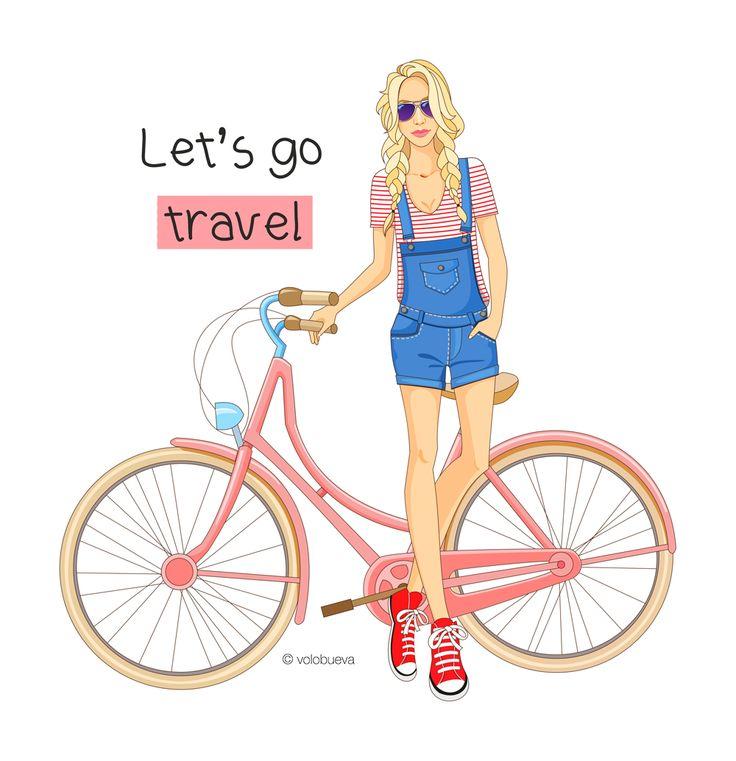 fashion illustration, travel, girl