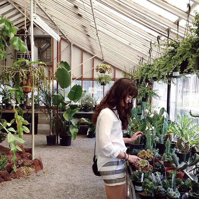 I Love Going To Pistils And Portland Nursery To Get Lost In All The Beauty!  🌵🌿 Wearing Dahlia Long Sleeve And Sonya Stretchy Short From !
