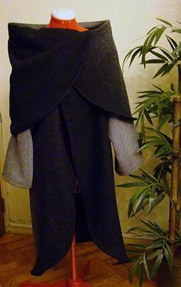 Circle Long Collar Coat