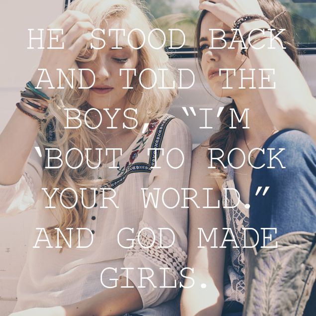 Lyrics to Love: God Made Girls by Raelynn