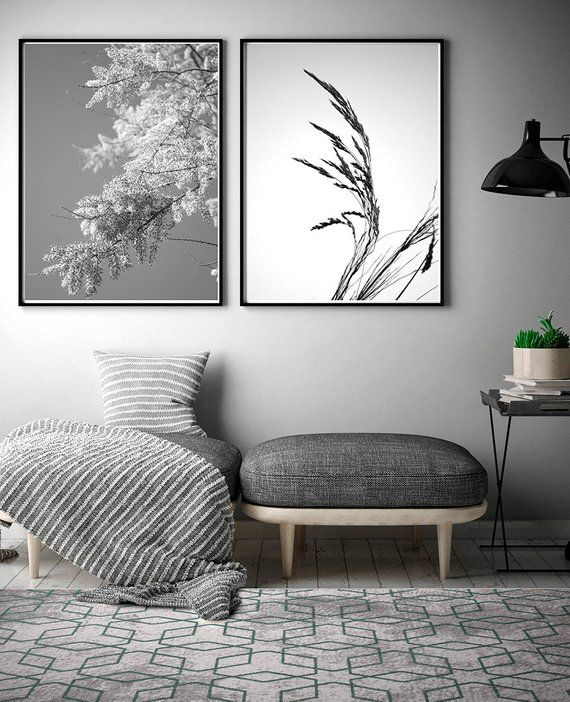 Flowering Tree Print Photographic Art Print Black And White Nature Photography Printable Wall Art Home Decor Wall Printables Minimal Decor Home Decor Wall Art