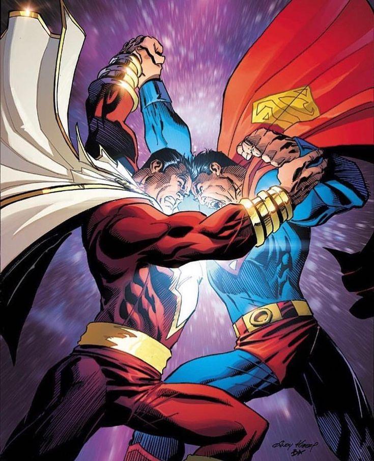Shazam vs. Superman by Andy Kubert