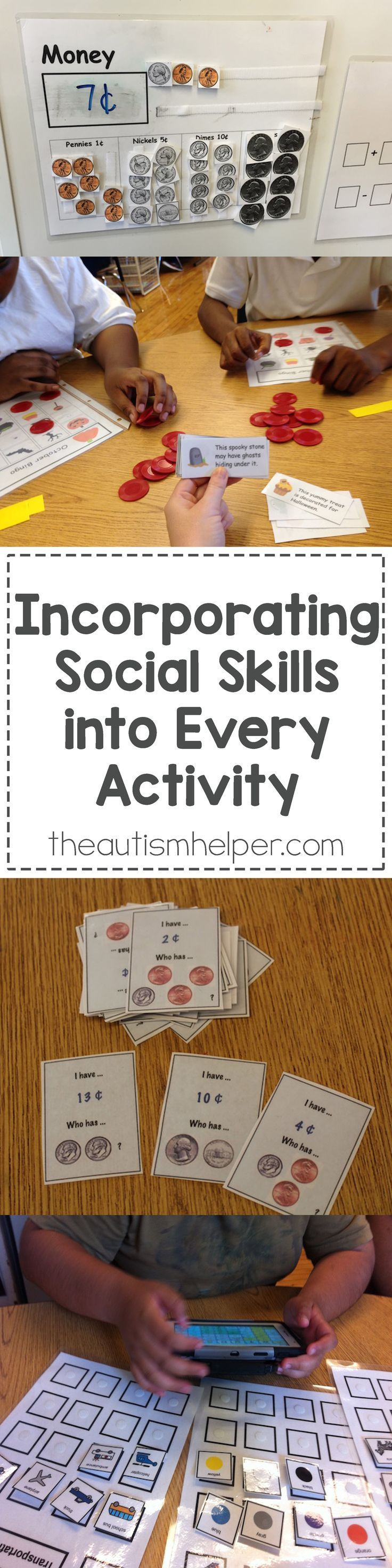 Learn how to incorporate social skills into your every day activity!! From theautismhelper.com #theautismhelper