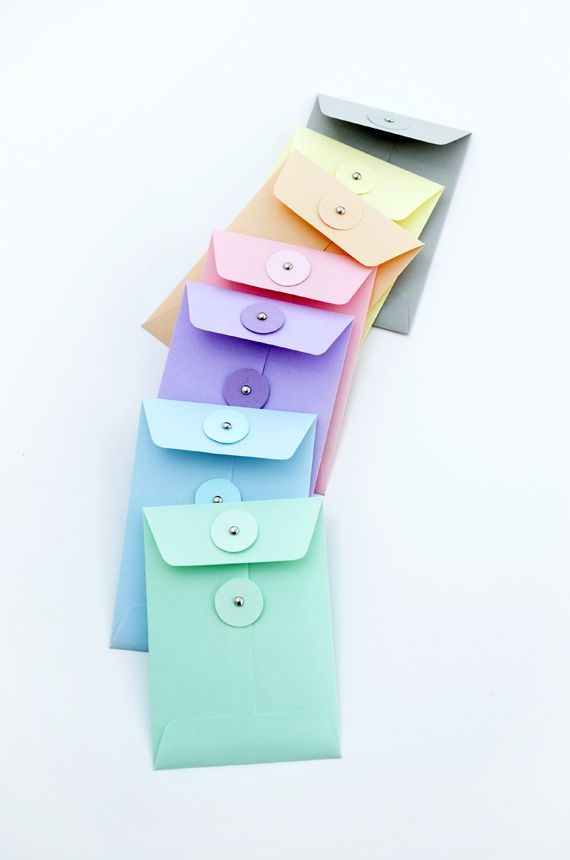 DIY String-Tie Envelope Templates