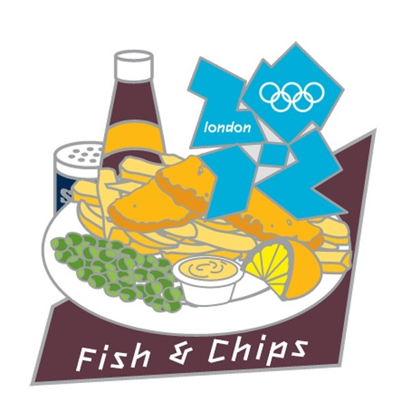 2012 Olympics Fish & Chips Pin
