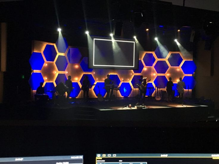 Cody Cochran From Living Water In Olympia, WA Brings Us This Cool Hexagonal Stage  Design. This Set Was Designed And Build For 2016 Easter And Youth ...