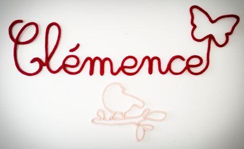 Littlebrioche - Prénom ou mot de 8 lettres réalisé au tricotin