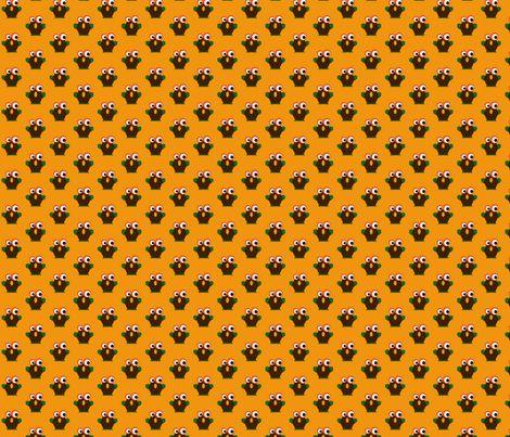 Yellow Owl fabric by minneaa on Spoonflower - custom fabric