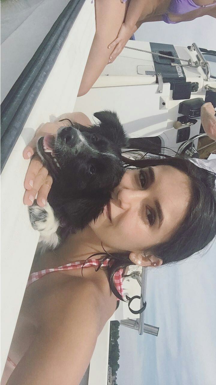 Nina Dobrev & her puppy Maverick July 21st, 2017